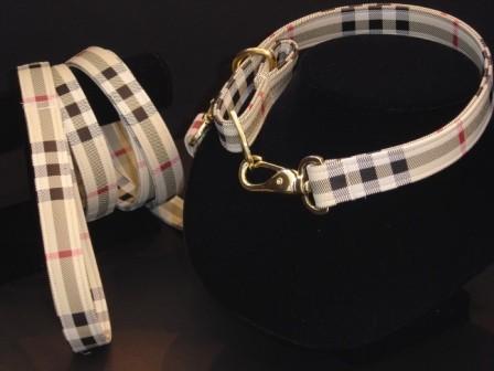 Burberry Dog Collar Leash